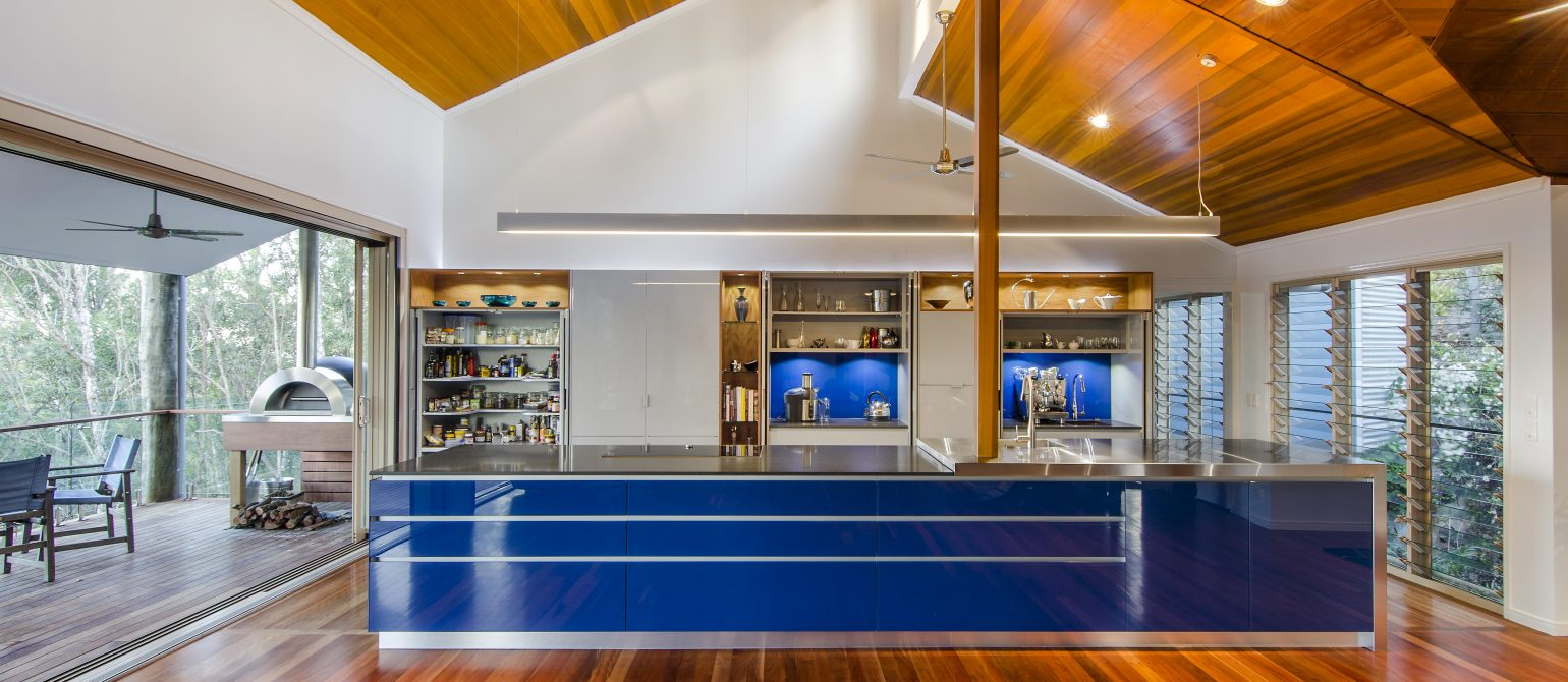 Blue Kitchen Renovation , Pullenvale Brisbane Australia