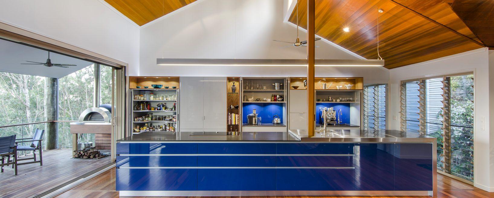 Blue Kitchen Renovation , Pullenvale Brisbane Australia