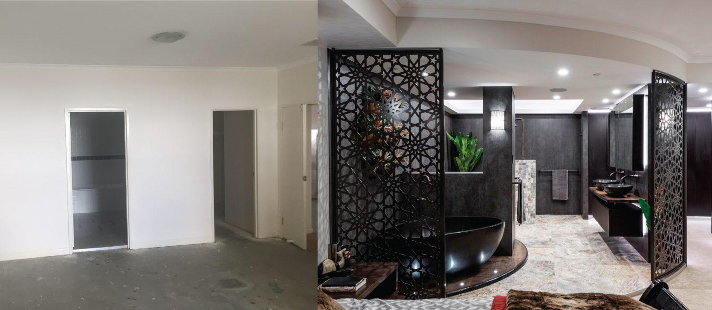 Brisbane CBD Penthouse - Master Suite Bathroom Renovation Before-and-After