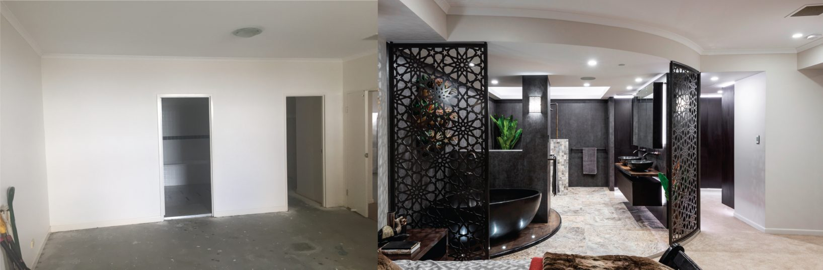Brisbane CBD Penthouse - Master Suite Bathroom Renovation Before-and-After