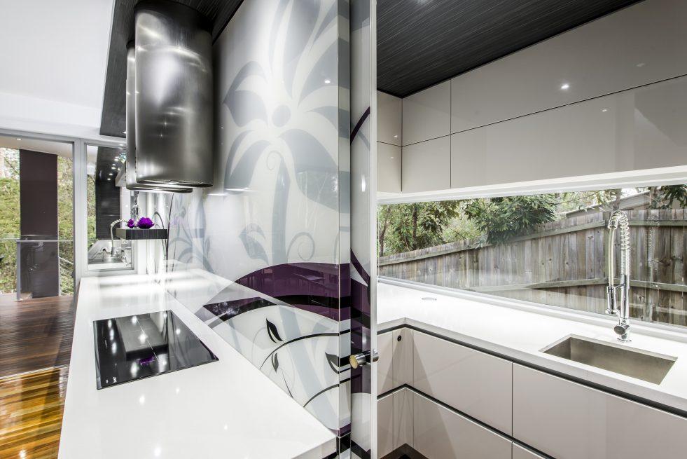 Kitchen Design Brisbane featuring Splashback window to Scullery