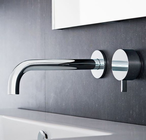 Bath Tapware - Wall Mixer and Spout