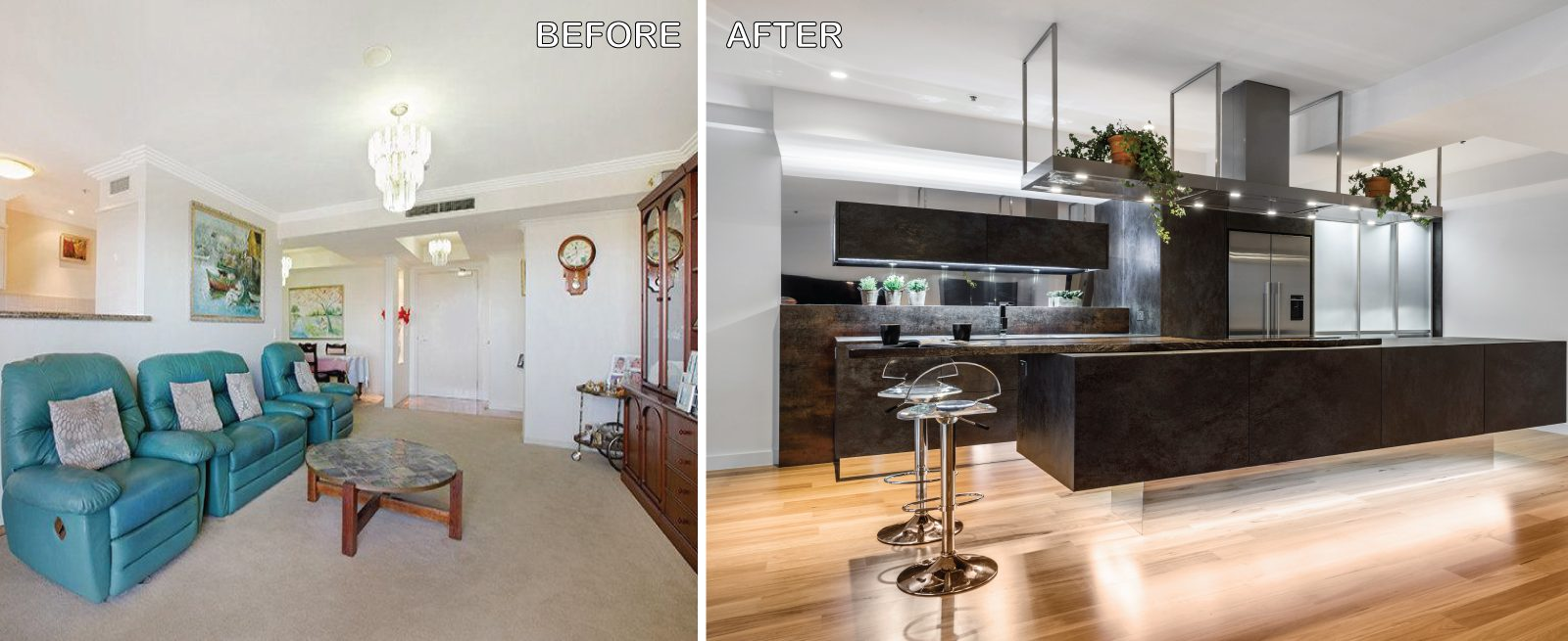 Before and After Kitchen Renovation Brisbane