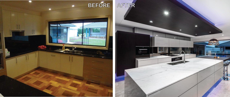 Kitchen Design Brisbane Australia Before and After